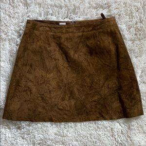 Vintage DKNY Leather Mini Skirt S